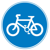 Routes to be used by pedal cyclists only
