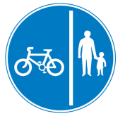 Separate Cycling and pedestrian route