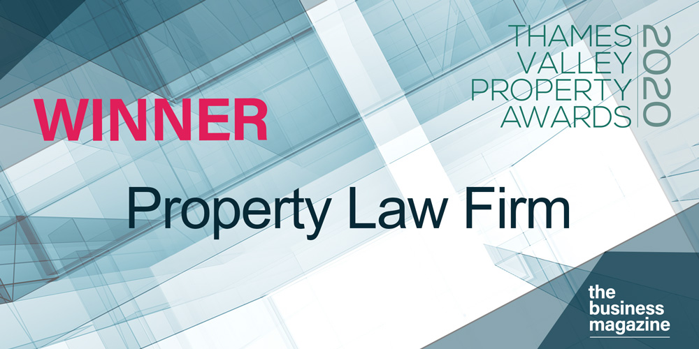 IBB Law wins Property Law Firm award in prestigious Thames Valley awards.